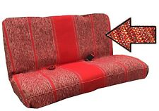 Red Saddle Blanket Bench Seat Cover Row Full Size Ford F150 Trucks