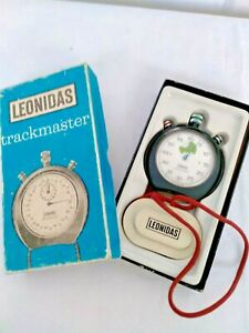 VINTAGE LEONIDAS TRACKMASTER STOP WATCH IN ORIGINAL BOX