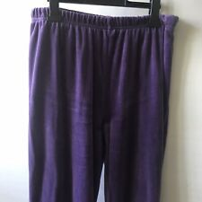 Vintage 90's Bill Blass Sport Purple Velour Velvet Trousers Super Soft 12 Petite