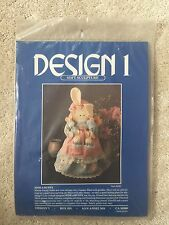 "DESIGN 1-HIDE A BUNNY-Fabric Soft Sculpture Kit-16.5"" Mama Rabbit/3 Babies CUTE"