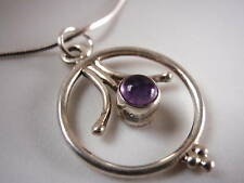 Purple AMETHYST 925 Sterling Silver Necklace Corona Sun Jewelry