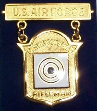 Us Air Force Distinguished Rifle Qualification Badge Medal
