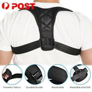 Posture Corrector Back Support Brace Correct Women Men Upper Back & Neck Pain