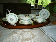 ABSOLUTELY STUNNING MINTON 'ARDMORE' SOUP 'CUPS' & SAUCERS - 11 PIECES IN TOTAL