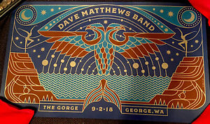 Dave Matthews Band DMB Gorge Posters; 9/2/18, Beautiful Steely Print; #934/1700