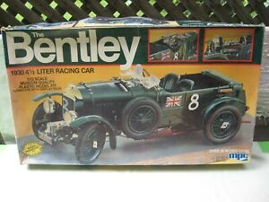1982 MPC Model Kit / THE BENTLEY 1930 RACING CAR / Not Started / 1/12 Scale