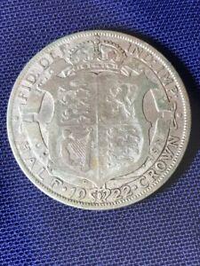 1922 Half Crown George V - 50% silver