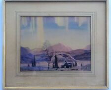 """Listed Canadian Artist - Graham Norwell - w/c - 9""""x11.5"""". Signed"""