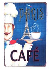 Metal Hanging Tin Signs Paris Cafe Poster Pub Cafe Shop Wall Decor Lovely Plaque