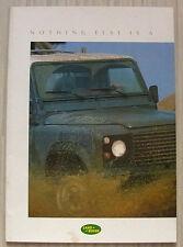 LAND ROVER 90 & 110 Sales Brochure Dec 1987 #LR442