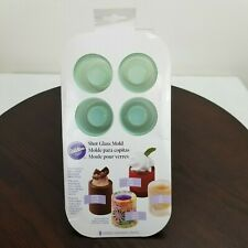 Wilton Silicone Shot Glass Mold Shooters Dessert Candy Ice 8 Molds Party Fun