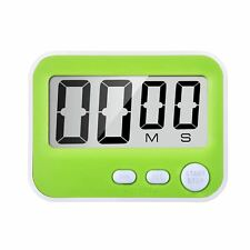 Magnetic Digital Kitchen Timer with Loud Alarm, Big Screen and Stand (Green H8K7
