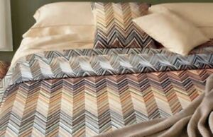 MISSONI JANET 160 QUEEN DUVET SET EMBROIDERED ITALY $1,190 NEW