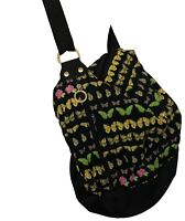 VERSACE VINTAGE BUTTERFLY CANVAS BUCKET BAG