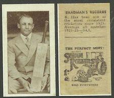 CRICKET BRADMAN RECORDS TRADE CARD REPRINT (No 6)