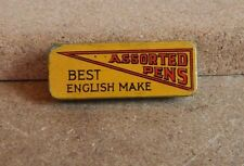 Vintage/Antique . Assorted Pen Nibs tin British Made 4.5cm x1.5cm advertising