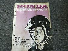 1985 Honda Model CH150 Elite Scooter Shop Service Repair Manual Book