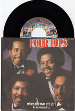 """FOUR TOPS WHEN SHE WAS MY GIRL RECORD YUGOSLAVIA 7"""" PS 45rpm"""