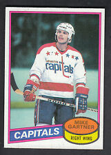 Mike Gartner 1980-81 Topps Rookie Card Scratches #195 Capitals