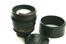 walimex pro 85mm f/ 1.5  Nikon MF, GUT