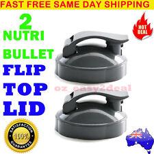 2PCS NUTRIBULLET Flip Top Fliptop Fresh Lid - SUITS All 600/900W Nutri Bullet AU