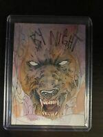 2020 Marvel Masterpieces 1/1 Sketch Werewolf by Night