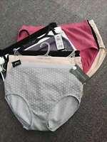 PLUS SIZE 5/10 Pack Laura Ashley Womens Microfiber Quick Dry Boyleg Size 12-24