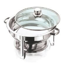 VINOD STAINLESS STEEL CHAFING DISH SET - ROUND TABLE TOP FOOD WARMER 4.5 Litre