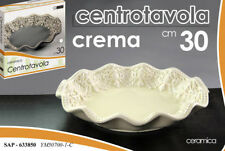 CENTROTAVOLA CIOTOLA Ø30 CM VASSOIO CERAMICA CREMA BEIGE ECRU SAP 633850