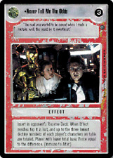 Never Tell Me The Odds x4   Star Wars CCG Dagobah NM swccg