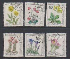 Flowers Used Czech & Czechoslovakian Stamps