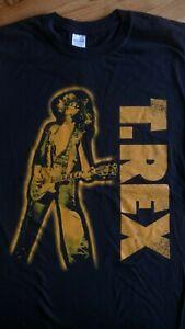 T-REX Marc Bolan Guitar T-Shirt. Black,Size 2XL Glam Rock,Prog,Bowie,Psychedelic