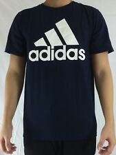 Adidas Men's Shirt Tee Badge of Sport Classic Navy Blue White CE5311 Size XL
