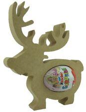 Reindeer PACK OF 2 18mm MDF Kinder Egg Holder Freestanding Christmas NEW Shape