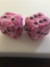 New Pink Leopard And Black Dots Car Dice