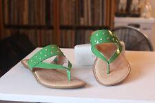 Born B42129 Krysten Green Patent Leather Studs Slides Thong Sandals Women's SZ 9