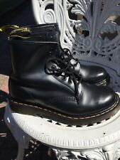 Doc Martens Unisex Smooth Black Leather Boots  1460 8hole Uk6/39 Excellent Condi