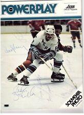 1976-77 HOUSTON AEROS WINNIPEG JETS WHA SIGNED PROGRAM 7 AUTOGRAPH SJOBERG HOWE