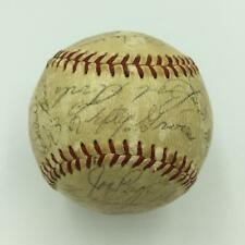 1965 Yankees Old Timers Day Signed Baseball Joe Dimaggio Lefty Grove PSA