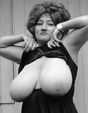 1960s Nude Pinup Busty Russe Huge E Breasts out of there cage 8 x 10 Photograph