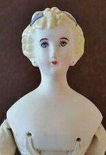 "Vintage Bisque Porcelain Parian-type Repro ""Countess Dagmar"" Doll Ready-to-Dress"