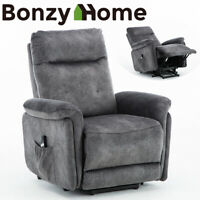 Electric Lift Assist Recliner Chair Powered Tilt Control Sofa w/ Remote Control