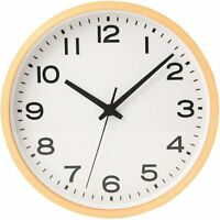 MUJI Wall Clock Plain Beechwood Large Analog Quarts Natural NEW from Japan
