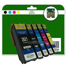 5 Ink Cartridges for Epson XP-510 XP-520 XP-600 XP-605 XP-610 non-OEM E2621-4