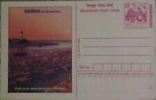 Daman, lighthiuse,island,tourism ,environment,advertised postal stationery