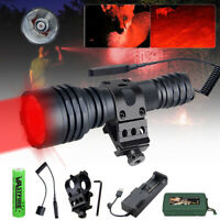 500 yard Hunting Flashlight LED Green Light Coyote Hog Predator Weapon Gun Torch