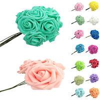 Colourfast Foam Rose Artificial Flower Wedding Bride Bouquet Party Decoration