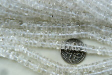 "Clear quartz crystal beads natural stone Tyre cut 4-5mm 14"" free shipping"