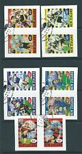 NEW ZEALAND 1999 RUGBY SUPER 12 SELF ADHESIVE EX BOOKLET FINE USED