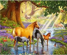 """Animal Landscape 16X20"""" Paint By Number Kit DIY Acrylic Painting on Canvas Unfra"""
